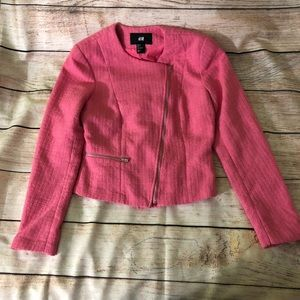 H&M hot pink Jacket size 2